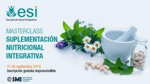 La Masterclass de Suplementación Nutricional Integrativa, que se celebrará el 21 de septiembre de 2019, contará con el Observatorio de Medicina Integrativa como uno de sus colaboradores.