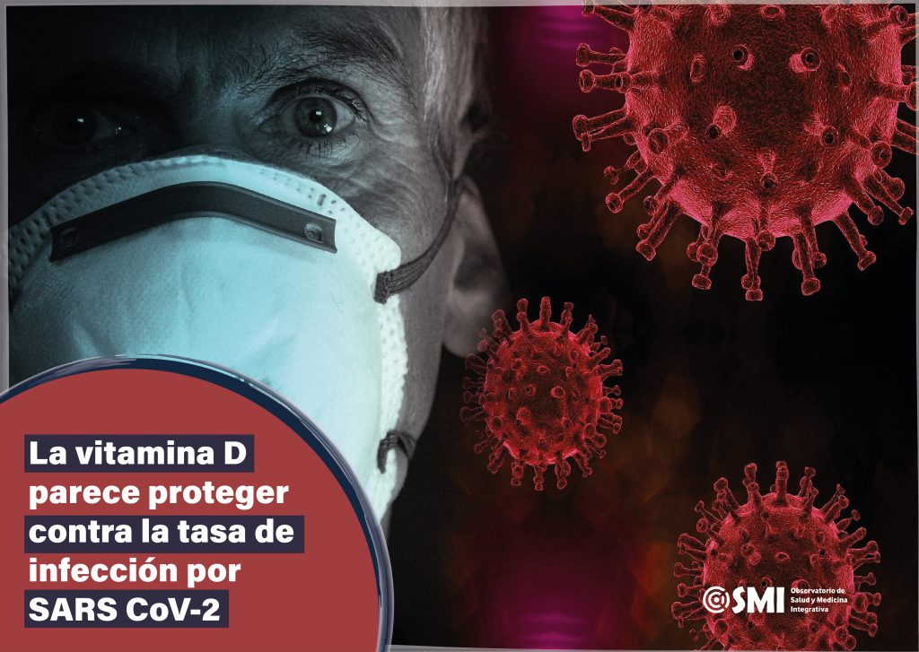 La vitamina D parece proteger  contra la tasa de infección por SARS CoV-2
