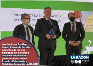 Los doctores Santiago Vega y Fernando Fariñas, ponentes del congreso Una sola salud (OSMI), galardonados con los Premios Veterinaria y Nutrición Animal de LA RAZÓN